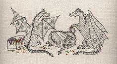 Blackwork Dragons