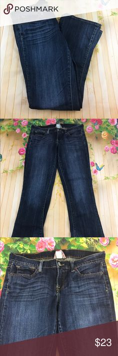 Lucky brand jeans In euc size 8 dark denim light wash Lucky Brand Jeans Boot Cut