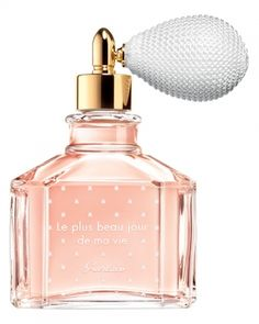 Le Plus Beau Jour de Ma Vie by Guerlain is a sweet, vanilla, white Floral Woody Musk fragrance with angelica, citrus notes and pink peppercorn in the top. Almonds, rose and orange blossom in the middle. Incense, patchouli, musk and vanilla in the base. - Fragrantica
