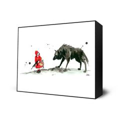 Red Riding Hood Mini Art Block By: Lora Zombie - The Incredible Art Gallery