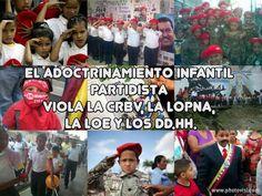 ESTAS DE ACUERDO CON EL ADOCTRINAMIENTO DE LOS NIÑOS? ENTONCES NO PROTESTES... SI NO HAZLO RECLAMALE AL REGIMEN!!