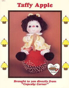 1985 Taffy Apple Dumplin Design from Cupcake Corner by NookCove, $5.99