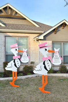 Storks & Celebration Signs of Temple offer yard sign rentals for baby announcements and more. Our customized storks provide a warm welcome home for your growing family and we will soon add birthday and occasion signs to our expanding inventory.
