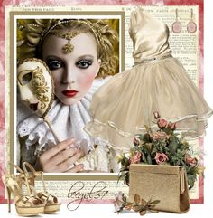 @Carrie Buntain this reminds me of you for mardi gras! cute, classy golds with the mask!!