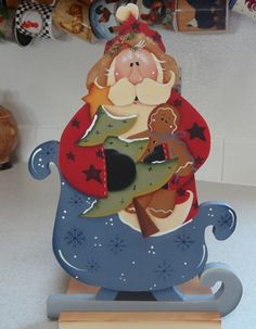 Santa Paper towel holder by Countrypainting on Etsy, $22.99