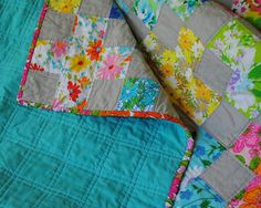 Hideaway Girl - a great way to use vintage sheets in quilting
