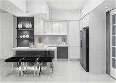 Kitchen:Minimalist White Kitchen Decoration With Natural Furniture Minimalist Kicthen Decoration Design Stunning Minimalist Kitchen Designs ...