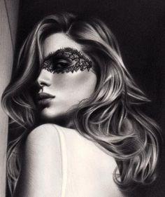 lace mask photography