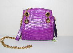 Vintage  Jitrois French Crocodile Purple by CheekyVintageCloset, $475.00