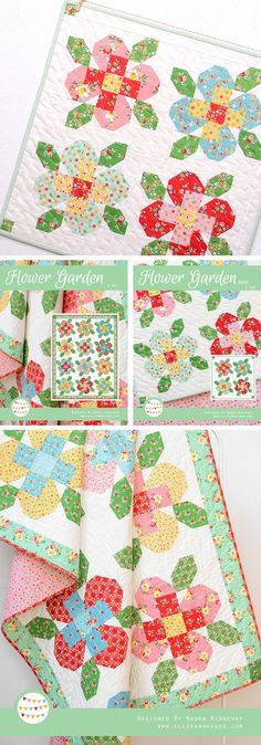 Flower Garden Quilts by Nadra Ridgeway - pin doesn't seem to link to anything, but it's a pretty pattern