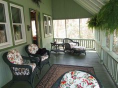 Quiet retreat on this Mt. Gretna PA porch.  Home is available for purchase.