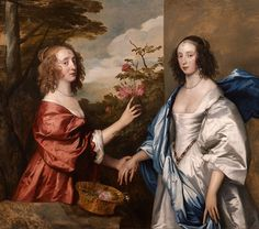 Sir Anthony van Dyck (Antwerp London) The Cheeke Sisters: Essex, Countess of Manchester (d. and Anne, Lady Rich (d. three-quarter-length, in a landscape Anthony Van Dyck, Sir Anthony, 17th Century Fashion, 17th Century Art, Manchester, Mary Boleyn, Anton Van, Roi Charles, Peter Paul Rubens