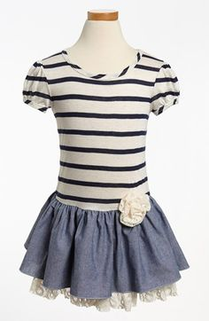 striped chambray dress. so sweet! #toddler
