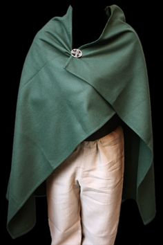Basic Viking wool cloak - green