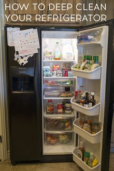 How to Deep Clean a Refrigerator. It's not a fun job, so use these steps to do it right the first time!