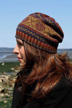 Fair Isle Slouch Hat by Sheila Joynes