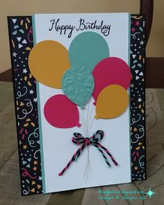 Windy's Wonderful Creations, Stampin' Up!, It's My Party DSP, Balloon Celebration, Balloon Bouquet punch
