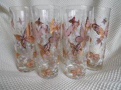 Set of 6 Tall Slender Vintage 1950s Glasses by SlyfieldandSime, $32.00