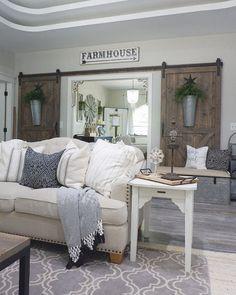 Amazing Rustic Farmhouse Living Room Design Ideas 32