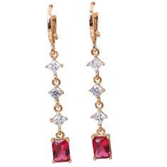 Find More Drop Earrings Information about New Statement Jewelry Fashion Jewelry 18K Yellow gold plated Ruby Dangling Earrings (DANA E047),High Quality jewelry badge,China jewelry usb Suppliers, Cheap jewelry funky from Dana Jewelry Co., Ltd. on Aliexpress.com