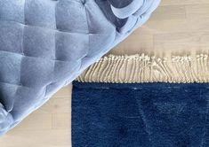 Luxurious Area Rugs. Deep ocean Blue moroccan Rug