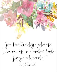 So Be Truly Glad. There Is Wonderful Joy Ahead by CraftMei on Etsy