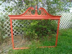 """41""""x47"""" Broyhill Colonial Style Split Pediment Open Fretwork Wood Picture/Mirror Frame Local Pick-up Only Lakeland, FL 33815"""