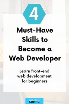 What skills do you need to learn to start a full-time career as a front end web developer? Check out these four essential coding and web development tools you must learn in order to start making money with web development: HTML, CSS, JavaScript, jQuery. Find a free online course and start learning today! #mikkegoes Learning Web, Learning Resources, Coding For Beginners, Web Development Tools, How To Make Money, How To Become, Best Online Courses, Learn To Code, Programming Languages