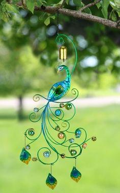 Peacock Garden Bell