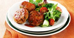 Thai Sweet Chilli Chicken - Rissoles, but not as you know them! These simple and delicious patties will have you asking for more. Meat Recipes, Chicken Recipes, Cooking Recipes, Healthy Recipes, Healthy Dinners, Banting Recipes, Chicken Ideas, Delicious Meals, Easy Dinners