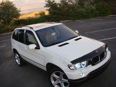 Bmw X5 E53, Angel Eyes, Car, Automobile, Autos, Cars