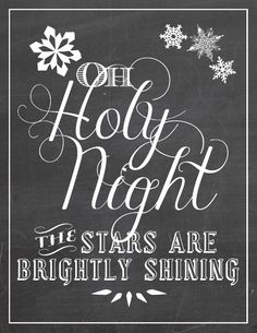 Oh Holy Night Free Christmas Art Printable