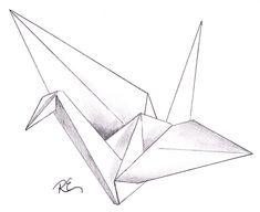 origami crane drawing - Google Search