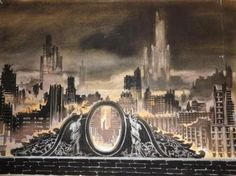 This is piece of artwork was one of Isaac Mendez' (Santiago Cabrera) paintings of Charles Deveaux's rooftop.
