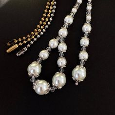 White pearl ceiling fan pull set, light pull pair, pearl and Crystal decorative ball chain pulls, lighting accessories, beaded pull chains. Decorative Ceiling Fans, Ceiling Fan Pulls, Light Pull, Pull Chain, Bead Caps, Accent Colors, Pearl Beads, Pearl White, Etsy Shop