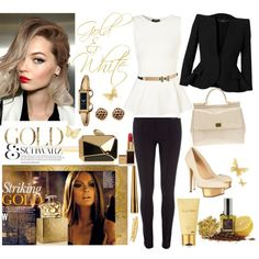 """""""Striking Gold"""" by doriana-d on Polyvore"""