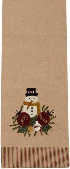 Christmas Joy-Peace Snowman Christmas Kitchen Towel
