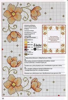 fiori centrotavola tovaglietta punto croce
