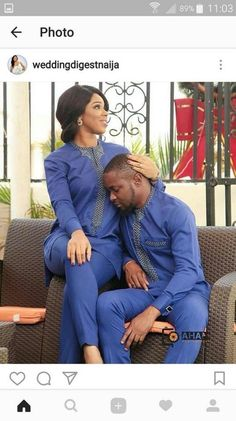 Top 17 Yoruba Demon Wears For First Class African Couples Couples African Outfits, African Dresses For Women, Couple Outfits, African Attire, African Wear, African Fashion Dresses, African Women, Ankara Fashion, Ghanaian Fashion