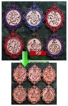 A beautiful collection of scrollsawn hanging ornaments