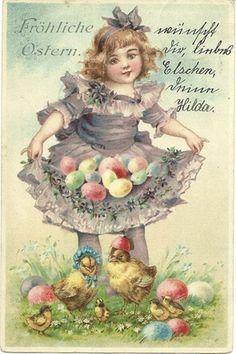 frances brundage easter postcard
