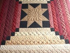Love the quilting, different on each strip..sure gives it a dimensional effect.