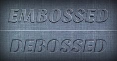 Create Realistic Emboss/Deboss Effects With This Photoshop Tutorial