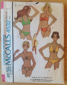 348aab38237 Misses' Two- Piece Bathing Suit and Cover-Up-AX5 (4-6-8-10-12) Pattern, ,  hi-res | Sewing Inspiration | Mccalls sewing patterns, Swimsuit pattern,  Mccalls ...