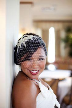 Crystal Bridal Birdcage veil  Sophia our by BridalCoutureGirls, $82.50