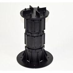 10-Pieces//Box Deck Support Plastic Adjustable Pedestal PRO M Levels Black New