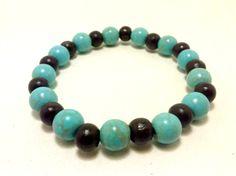 Blue Magnesite Bracelet Gemstone Bracelet by ShamisesBlissful