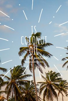 """""""The God Particle"""" is a nickname for a subatomic particle responsible for all the mass in the universe. It's the missing key for some of physics' biggest questions, and the science world freaked out when it was discovered in Switzerland. See more on our blog #coconutoil #skincare"""