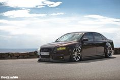 Custom Audi A4 from Sweden in Java Brown and on Work Schwert SC2 wheels