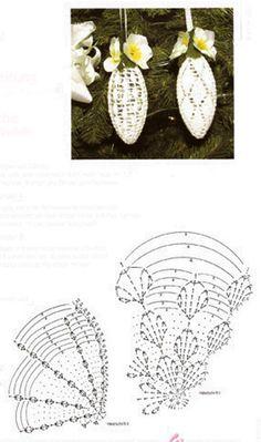 Szydełkowe Dziergadełka Nowak Katarzyna - Her Crochet Art Au Crochet, Crochet Tree, Crochet Ball, Thread Crochet, Crochet Motif, Crochet Doilies, Crochet Flowers, Crochet Diagram, Crochet Christmas Ornaments